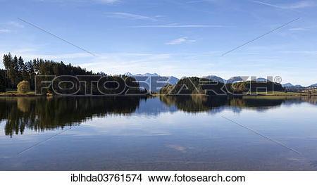 "Stock Photo of ""Illasbergsee lake with autumn."