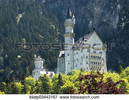 """Picture of """"Schloss Neuschwanstein Castle, Fussen, Ostallgau."""