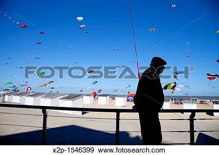 Stock Photograph of International Kite Festival in Ostend, Belgium.