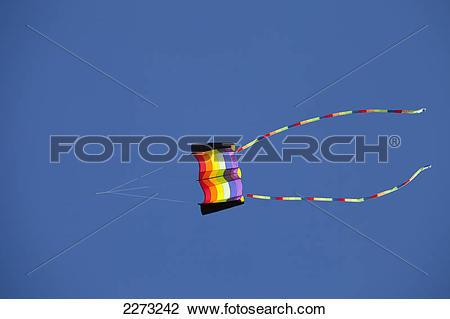 Stock Photo of A kite flying for the international kite festival.