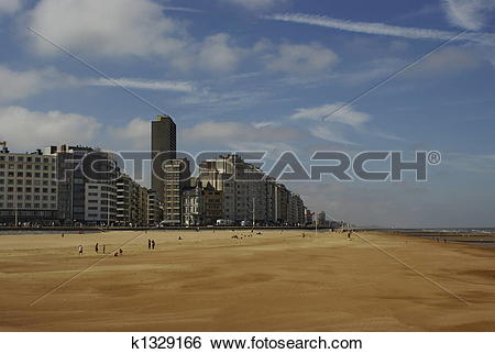 Stock Images of Ostend beach k1329166.