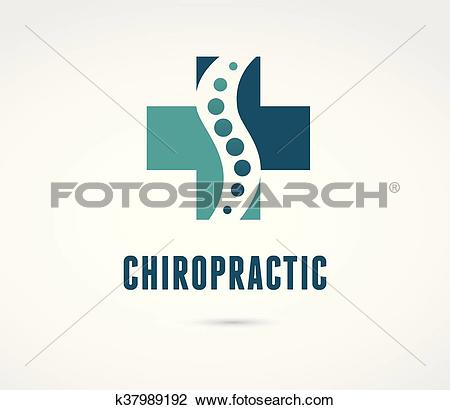 Clipart of Chiropractic, massage, back pain and osteopathy icon.
