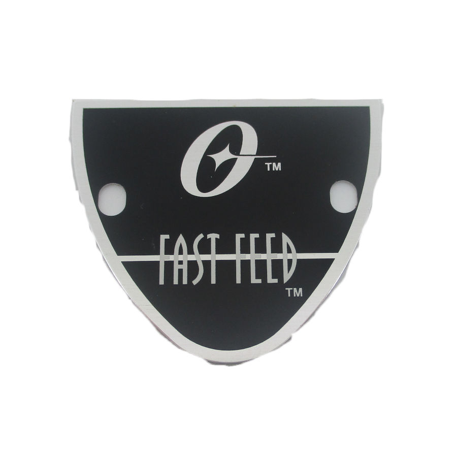 Oster Fast Feed Name Plate.