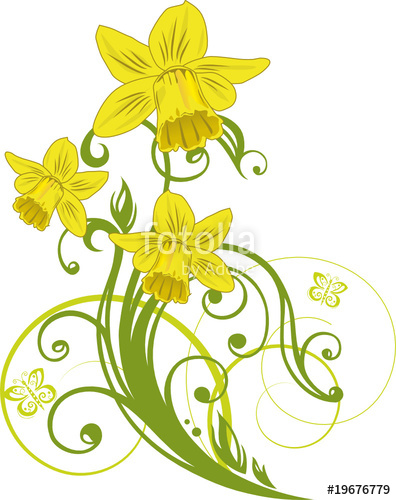 Ostern, Osterglocken, Narzissen, Blumen, Blüten, floral.