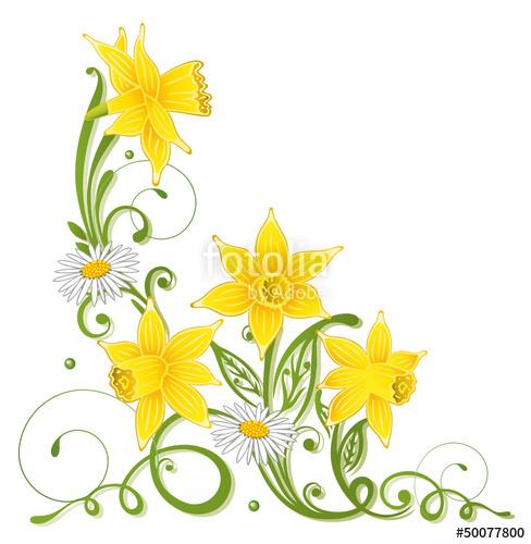 Ostern, Osterglocken, Narzissen, Frühling, Gänseblümchen.