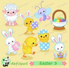 Easter Clipart, Easter Clip Art, Easter Bunny Clipart, Bunny Clip.