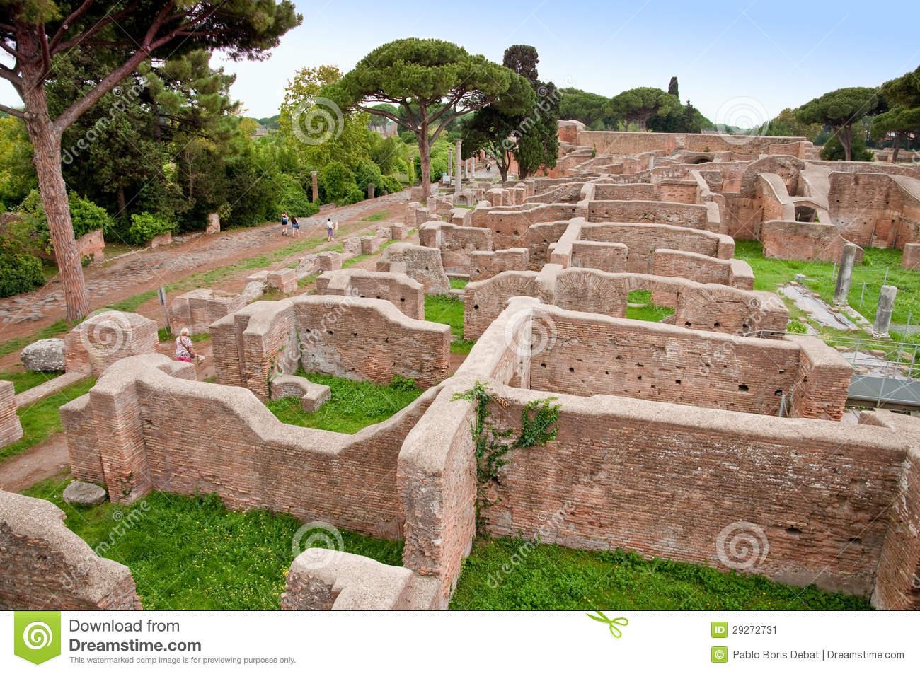 Neptune Baths Ruins At Ostia Antica.