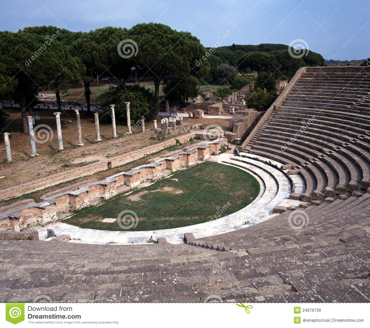 Ostia Antica Ruins Stock Photos, Images, & Pictures.