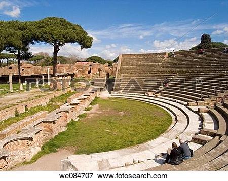 Picture of Ostia antica, Rome, Italy we084707.