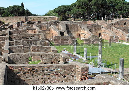 Stock Image of Landscape view of Ostia Antica k15927385.