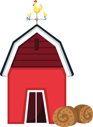 Drawing Of The Barn Door Clip Art, Vector Images & Illustrations.