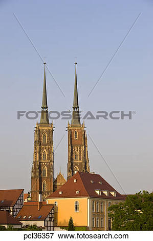 Picture of Cathedral In Ostrow Tumski, Wroclaw, Poland pcl36357.