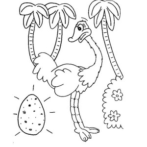 Ostrich Egg Coloring Page.