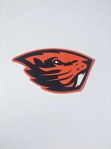 Details about Oregon State Beavers Mascot NEW LOGO Decal Sticker Benny  Beaver OSU orange.