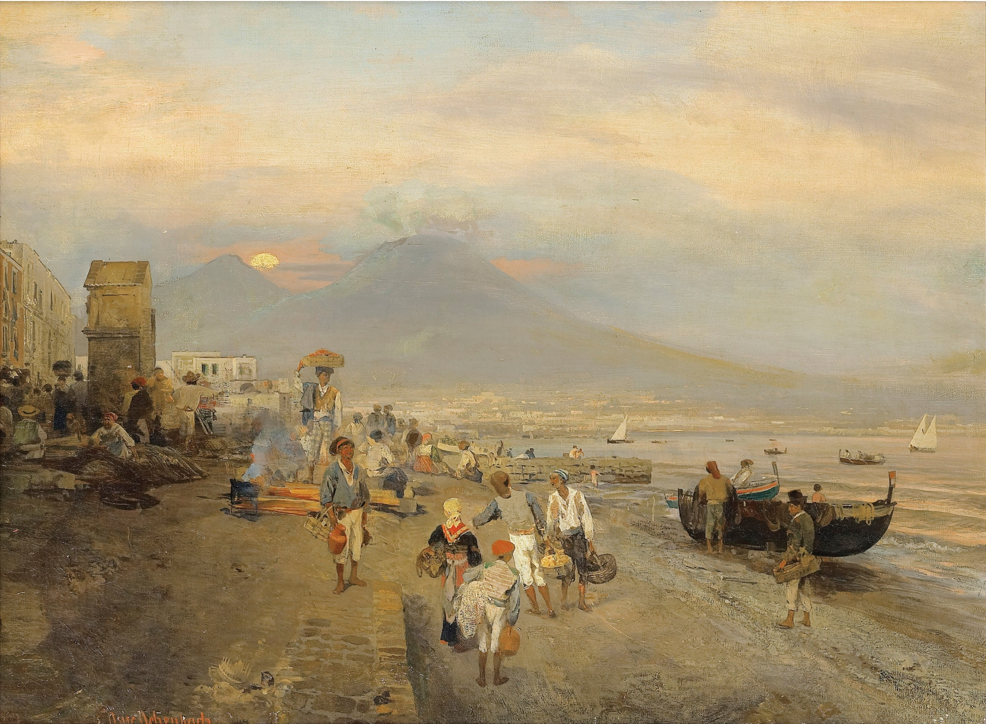 View of Naples in SUNSET.