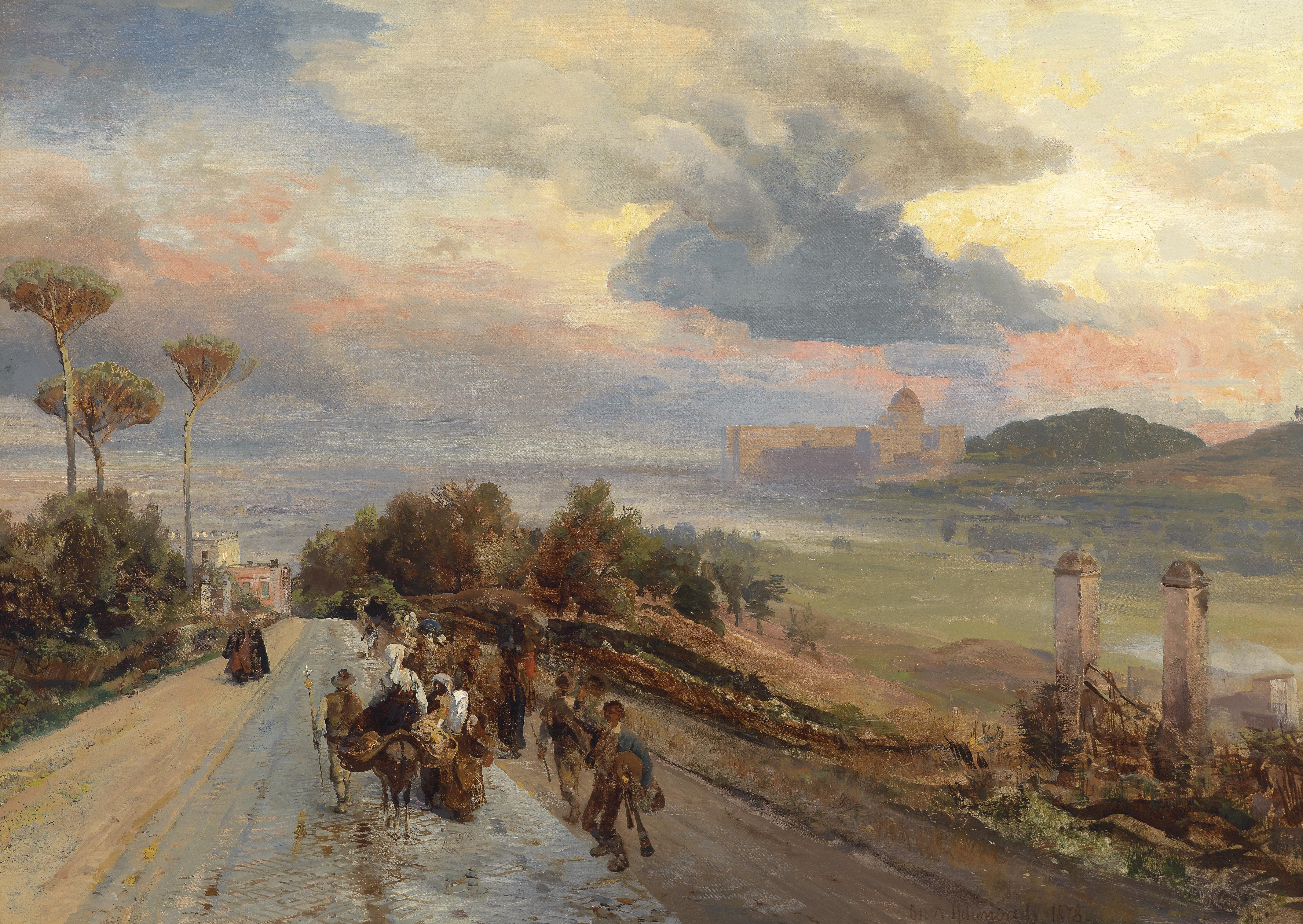 File:Oswald Achenbach Via Cassia bei Rom 1878.jpg.