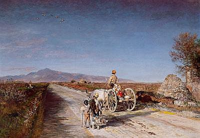 Oswald Achenbach Works on Sale at Auction & Biography.