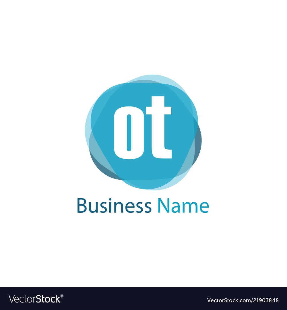Initial letter ot logo template design.