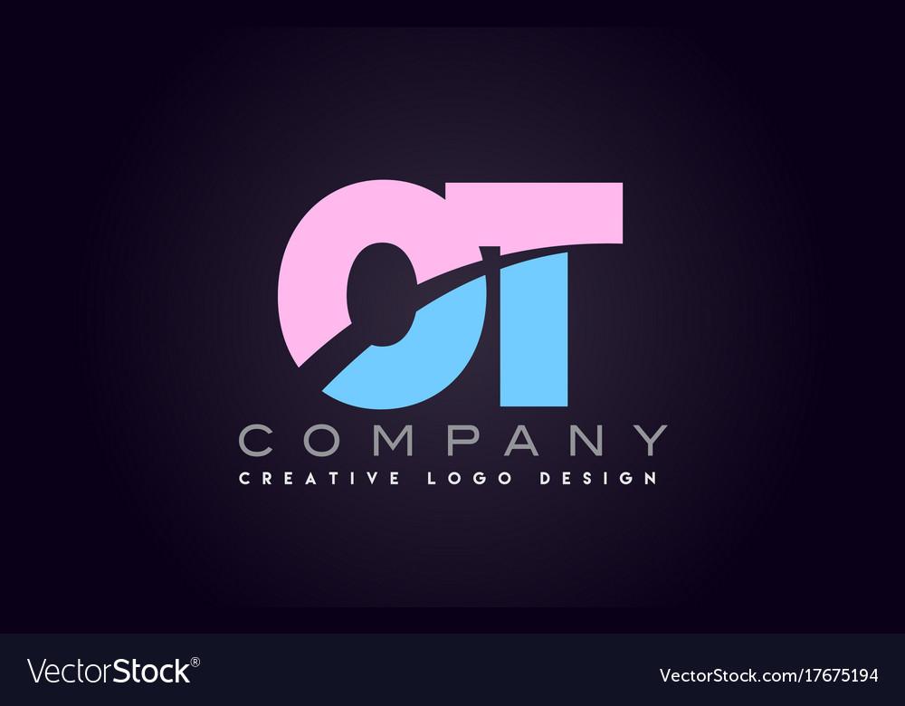 Ot alphabet letter join joined letter logo design.