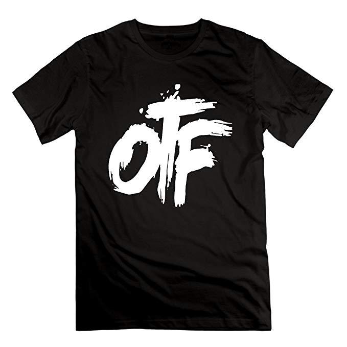 Amazon.com: HUIKL Men\'s OTF Logo Cotton Short Sleeve T.