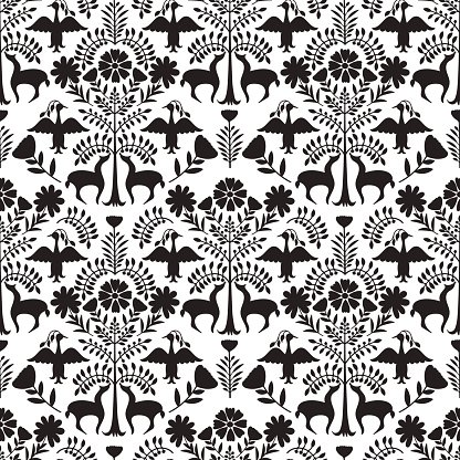 Otomi Style Pattern Clipart Image.