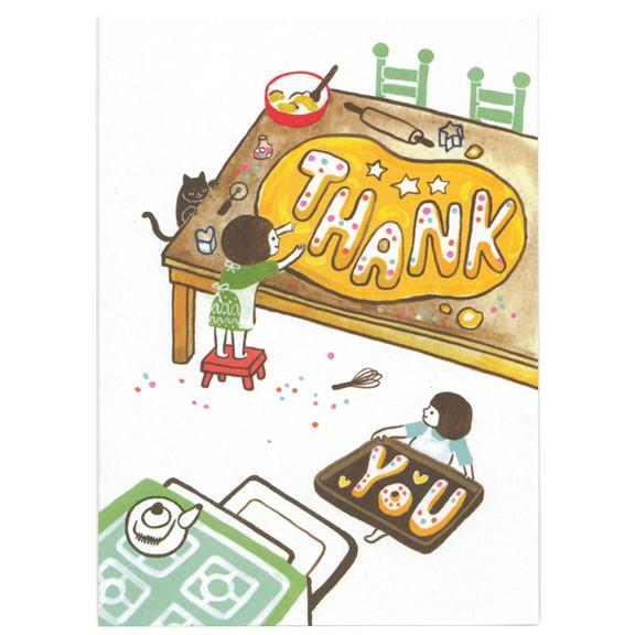Ayumi Piland Thank You Cookies Card by Little Otsu.