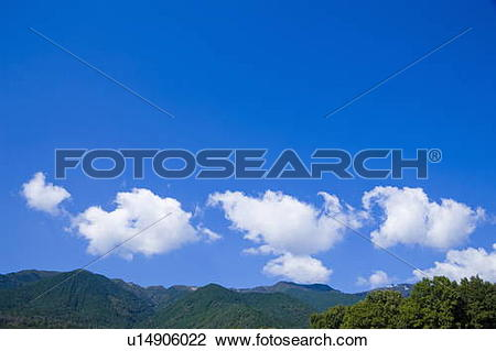 Stock Photo of Forest and mountain range, Hira.