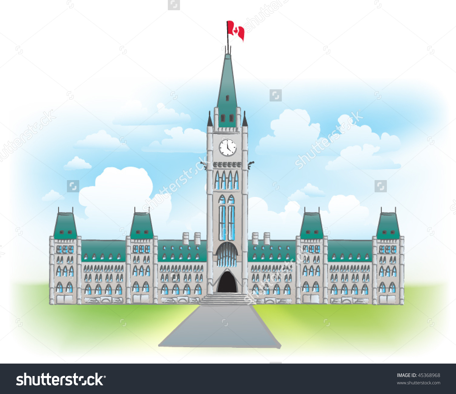 Parliament Buildings Ottawa Clipart.
