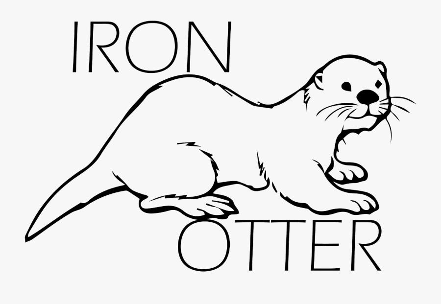 Transparent Otter Clipart Black And White.