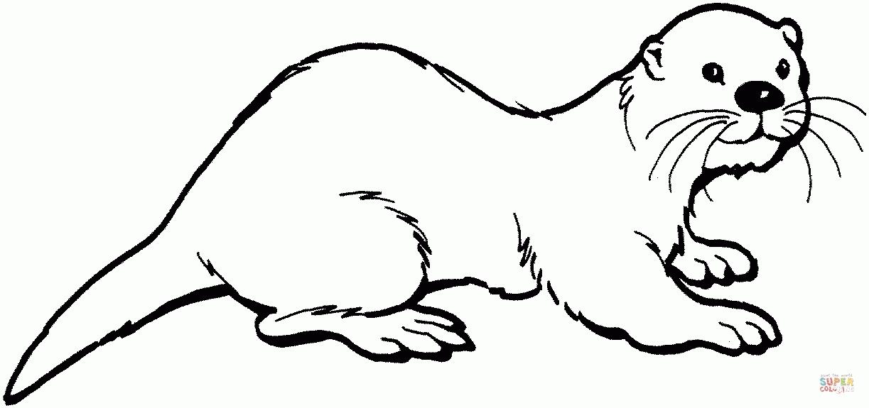 Otter Black And White Clipart.