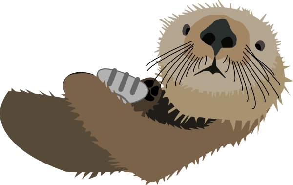 Cute Images Of An Otter Clipart.