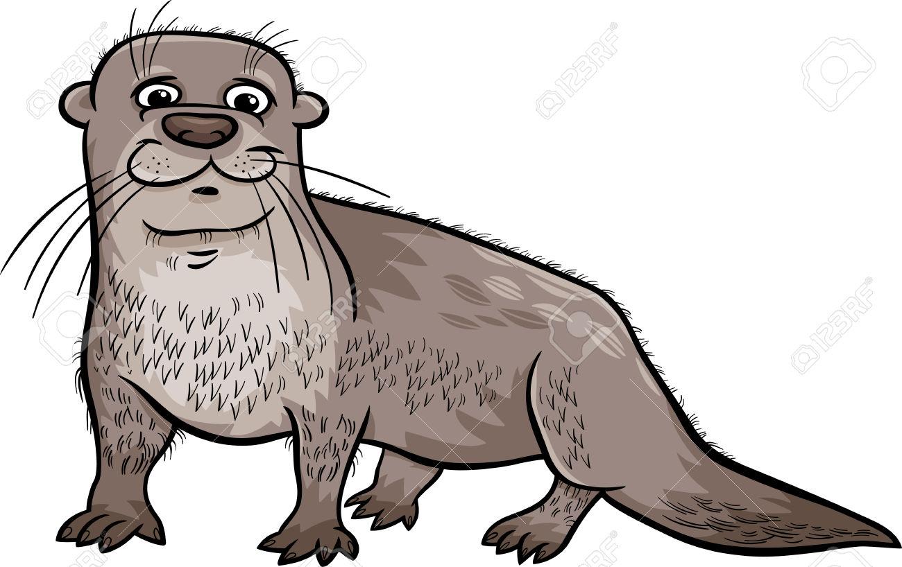 Cartoon Otter Clipart.