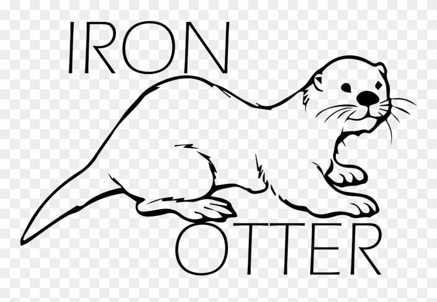 Drawn Otter Marine Otter.