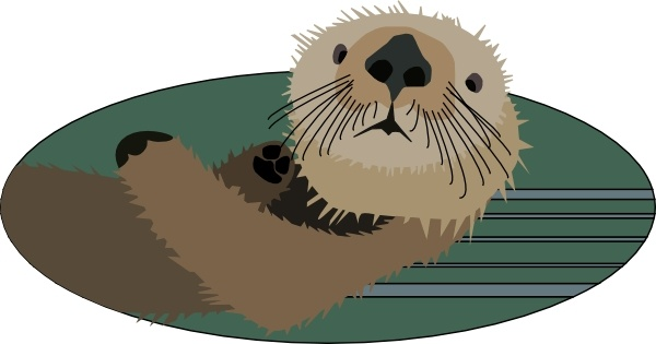 Sea Otter clip art Free vector in Open office drawing svg.