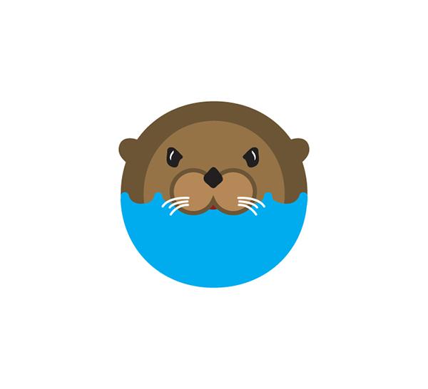 Otter logo on Behance.