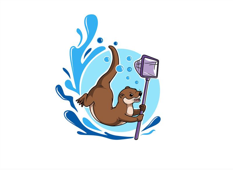 Otter character logo by hasahatan on Dribbble.