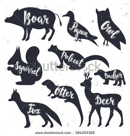 Otter Silhouette Stock Images, Royalty.