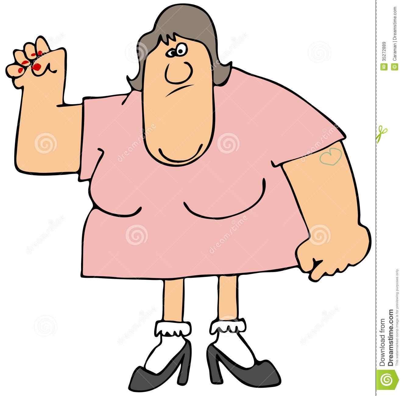 Clipart Woman Upper Body.