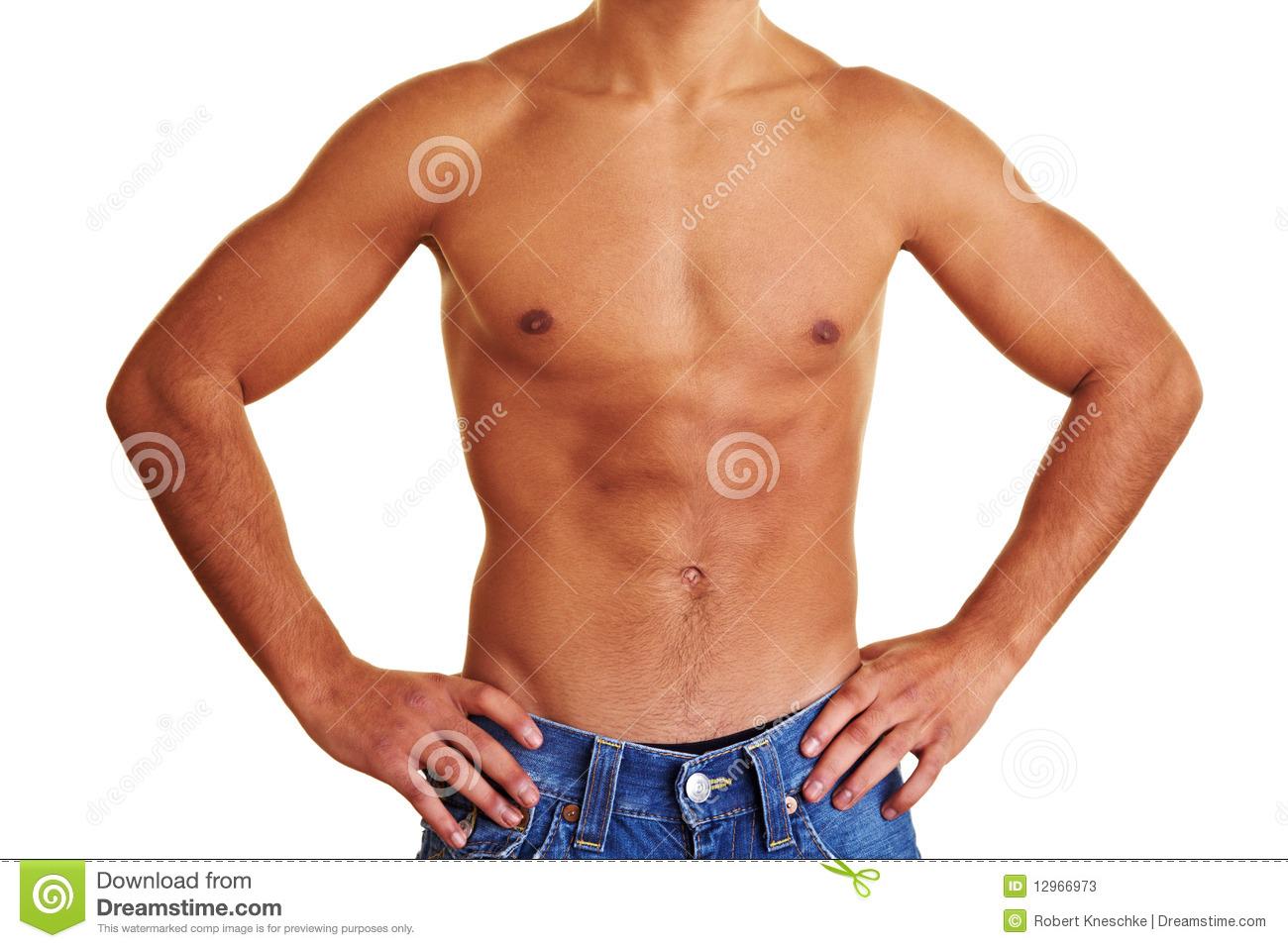 Upper Body Man Clipart.