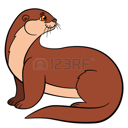 Showing post & media for Cartoon otter with clothes.
