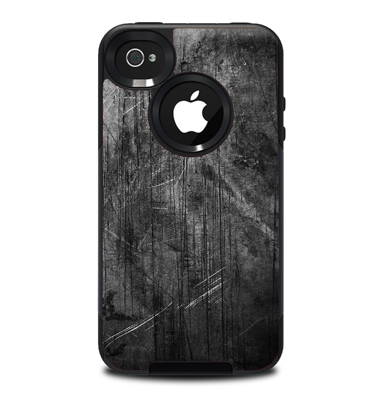 The Grunge Scratched Metal Skin for the iPhone 4.