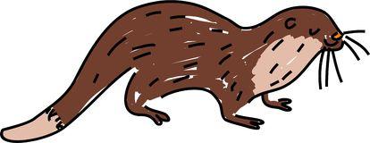Cartoon Otter Stock Illustrations.