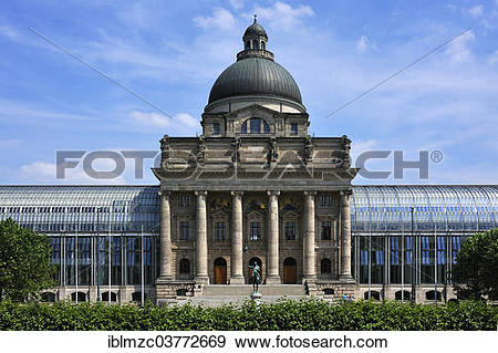 "Stock Photograph of ""Bavarian State Chancellery with the."