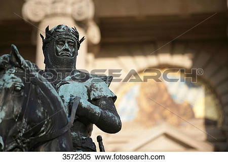Stock Image of Statue of Otto von Wittelsbach in front of the.