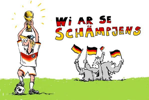 """Otto Waalkes on Twitter: """"jaaaaa! wi ar se schääämpjens #WM #2014."""