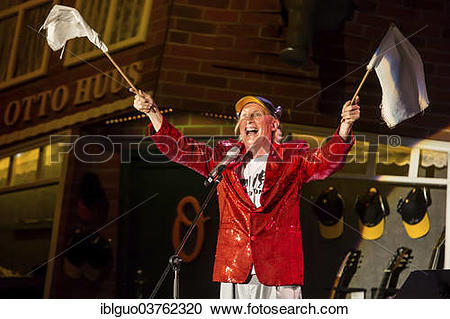 "Stock Photography of ""The German comedian Otto Waalkes performing."