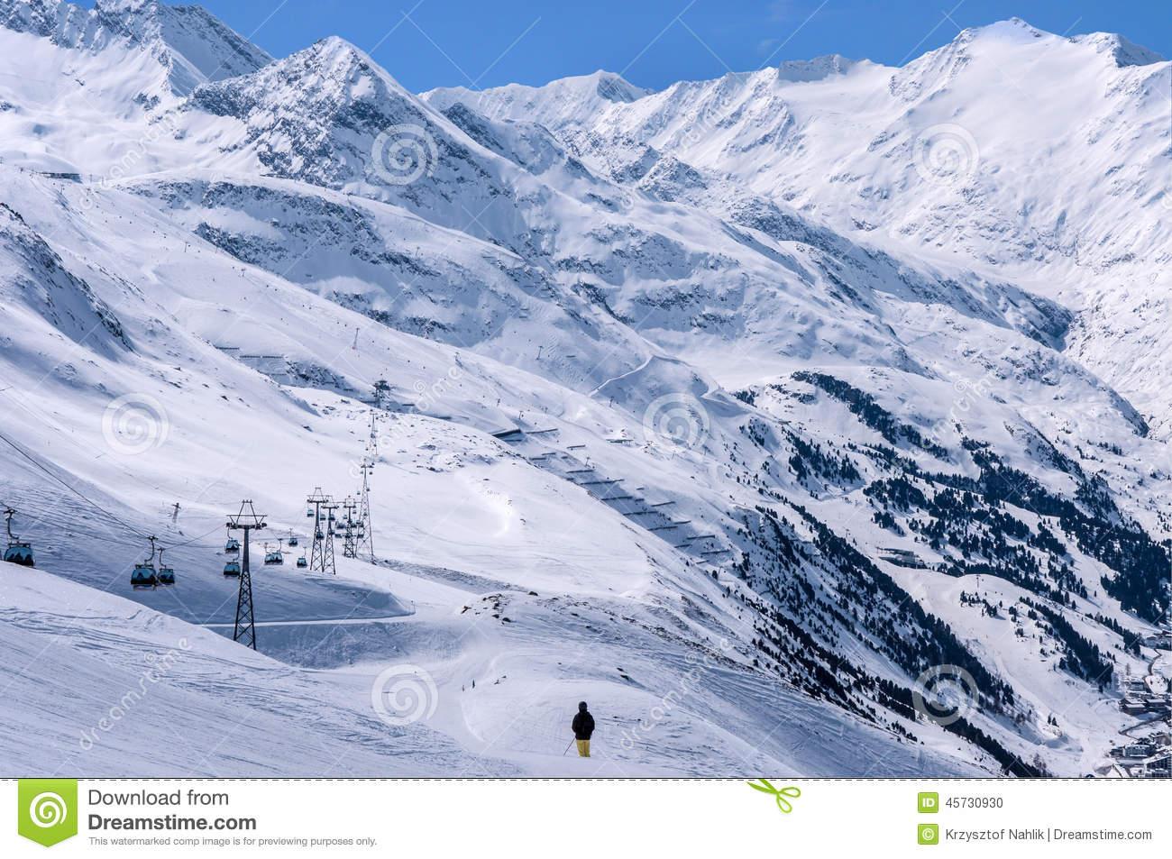 Ski Center Obergurgl.