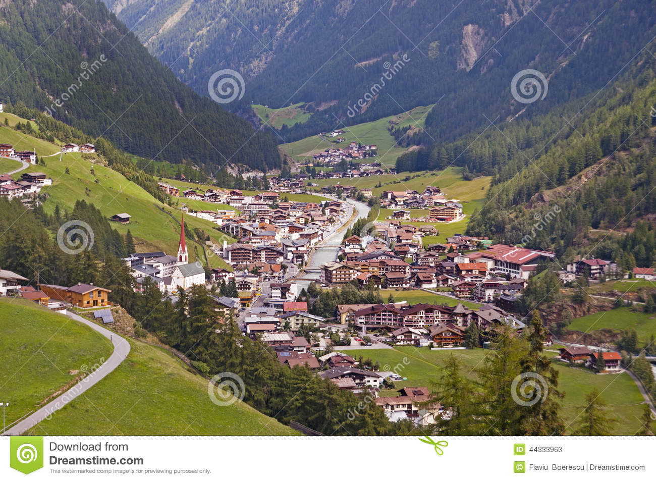 Soelden Resort In Otztal, Tirol, Austria Stock Photo.
