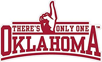6 Inch OU There\'s Only One Oklahoma Sooners Logo Removable Wall Decal  Sticker Art NCAA Home Room Decor 6.5 by 3.5 Inches.