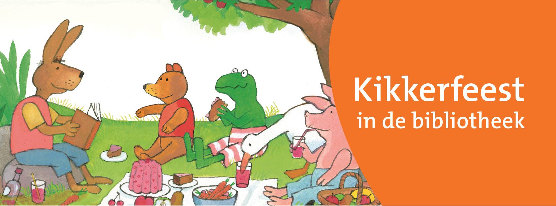 Feest met Kikker in bibliotheken Pekela en Veendam.